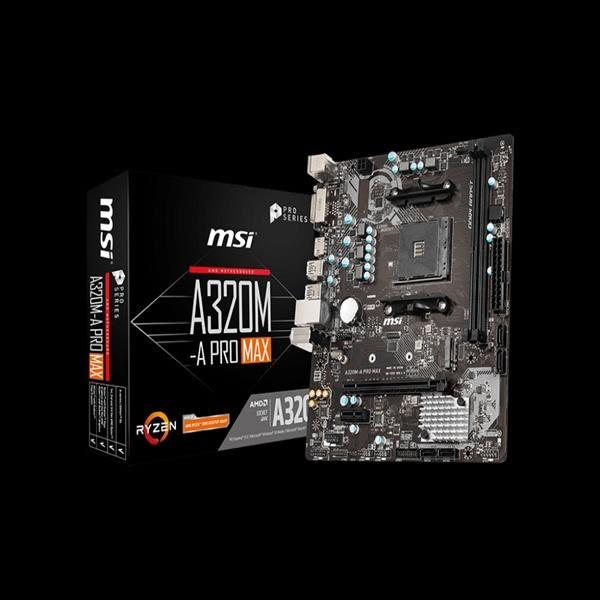 【綠蔭-免運】微星MSI A320M-A PRO MAX AMD主機板