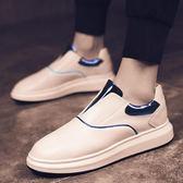 夏季運動休閒鞋子小白鞋男士板鞋韓版潮流百搭一腳蹬懶人鞋男 非凡小鋪