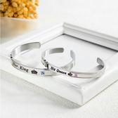 【5折超值價】時尚精美字母造型鈦鋼情侶手環