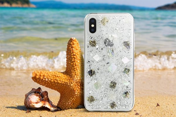 SwitchEasy Fleur iPhone X/Xs/Xs Max 防摔保護殼-真碎貝殼(透明)
