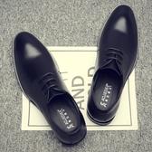 男士皮鞋真皮透氣商務皮鞋男鞋 ☸mousika
