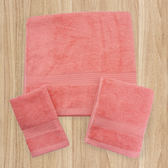 MORINO 有機棉緞條方巾-紅【愛買】