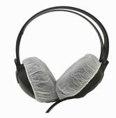網吧錄音棚無紡布一次性耳機套頭戴式聽診器話筒罩防汗罩100只