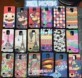 出清商品---King*Shop---韓國彩繪貼皮 三星note4情侣手機套N9100矽膠保護套 N9106v外殼軟