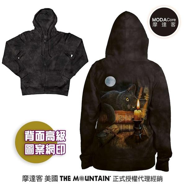 摩達客 預購-美國進口The Mountain 魔法貓時刻 女版長袖連帽外套