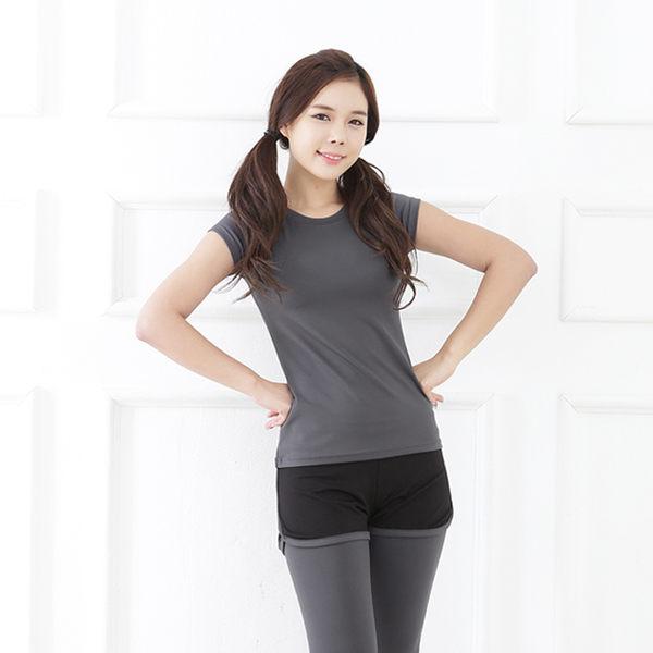 韓國健身瑜伽服上衣短袖女春夏健身房運動服跑步訓練速乾衣   - jrh0010