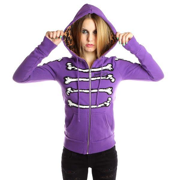 艾薇兒 BONE DANCE 紫色骨舞人心連帽外套 ABBEY DAWN