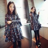 韓版孕婦連身裙秋裝新款潮媽秋季上衣秋款寬鬆大碼時尚款裙子 居享優品
