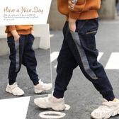 男童牛仔褲秋冬裝牛仔褲新款中大小孩兒童加絨加厚保暖長褲 QG15254『Bad boy時尚』