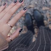 戒指菱形幾何簡約閉口玫瑰金不褪色戒指指環女 台北日光