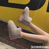 2019冬季新款網紅雪地靴女加絨加厚保暖韓版百搭學生可愛短筒棉鞋 印象家品