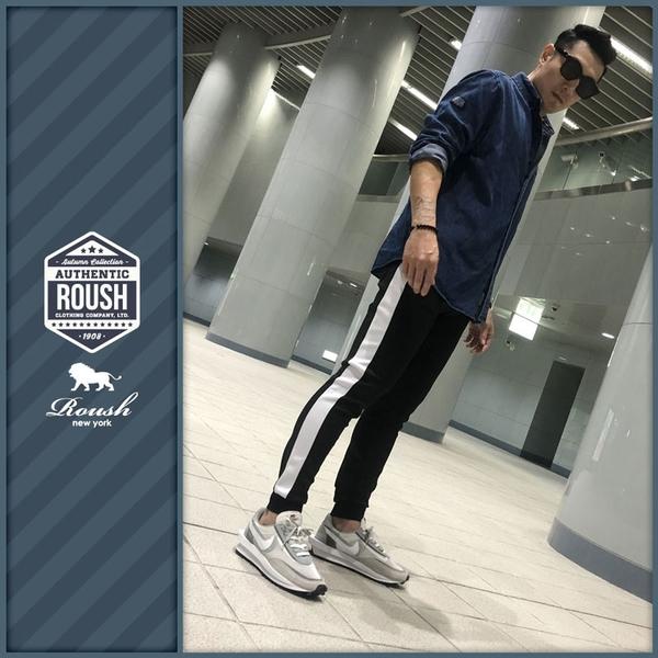 【Roush】 側接色機能性束口棉褲 -【2025705】