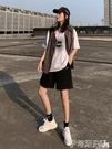 工裝短褲五分運動短褲女夏2020新款潮ins韓版寬鬆高腰直筒港味bf工裝中褲 伊蒂斯