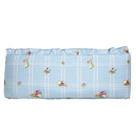 【佳兒園婦幼館】FoxwoodTales狐狸村傳奇 高級精梳棉床護圈 (一般中床適用)-藍色
