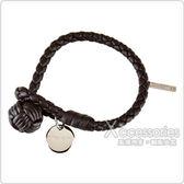BOTTEGA VENETA 經典手工編織單環小羊皮手環(深咖啡)