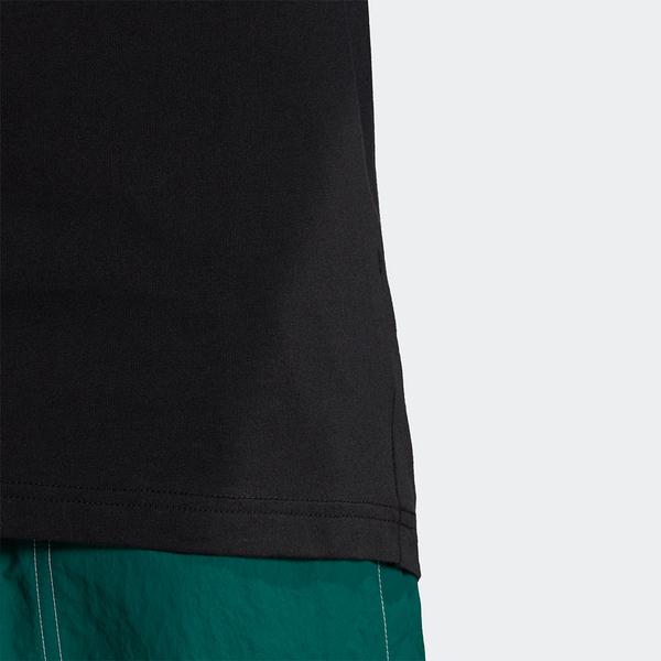 【現貨】ADIDAS MONOGRAM 男裝 短袖 休閒 純棉 印花 三葉草 黑【運動世界】GD5846