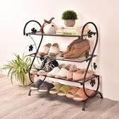 鐵藝簡易鞋架家用多層收納鞋櫃家用門口小鞋架經濟型宿舍鐵藝鞋架 卡布奇诺igo