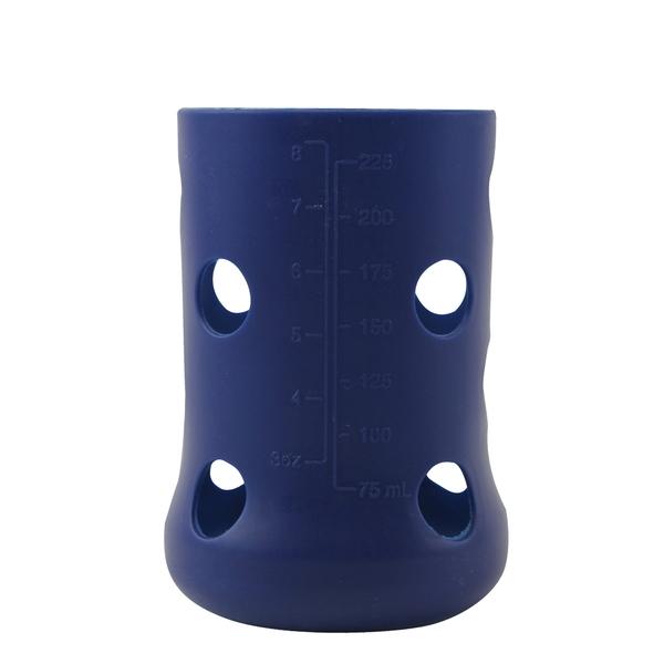 【愛的世界】Mii Organics 矽膠奶瓶保護套-藍(8oz) - ---Mii 嬰兒用品
