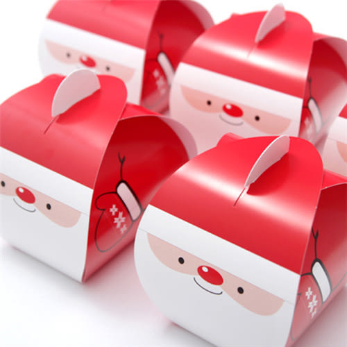 聖誕老人戴手套 慕斯蛋糕盒 平安夜蘋果盒 手提盒 耶誕節 烘焙包裝 禮品包裝 餅乾袋 西點盒