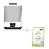 【奇買親子購物網】Nuby蒸氣消毒烘乾鍋+Nac Nac奶瓶清潔劑補充包600ml