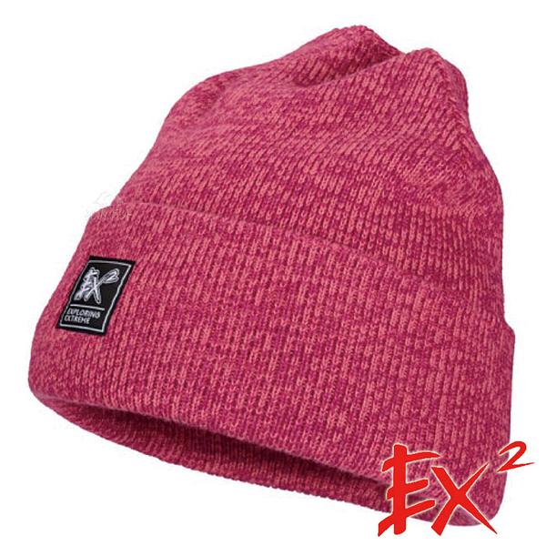 【 EX2 】青少年針織保暖圓帽『紫紅』366229 戶外.針織帽.造型帽.毛帽.帽子.禦寒.防寒.保暖