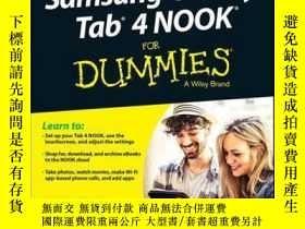 二手書博民逛書店Samsung罕見Galaxy Tab 4 NOOK For DummiesY410016 Corey San