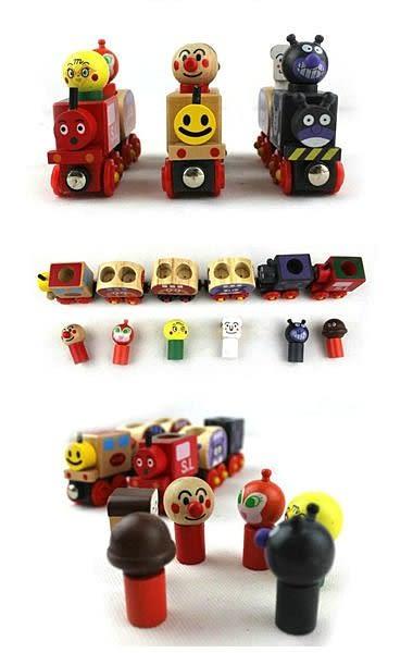 【發現。好貨】麵包超人火車 磁性木製小火車玩具 相容國際木製標準軌道 兒童玩具