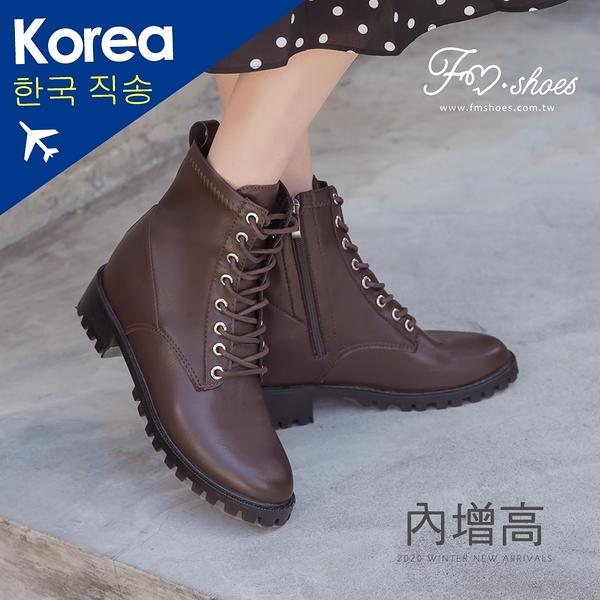 靴.馬甲內增高工程靴(咖)-大尺碼-FM時尚美鞋-韓國精選.Ivory