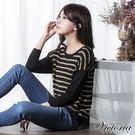 Victoria 條紋寬鬆長袖線衫-女