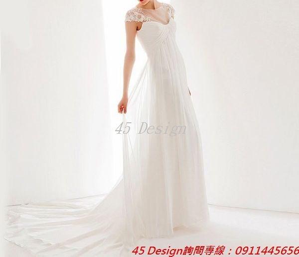 (45 Design) 訂做款式7天到貨 專業訂製款 大尺碼 定做顏色  短款公主小禮服 婚禮伴娘 婚紗白紗