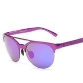 太陽眼鏡-新款個性炫彩半框偏光男女墨鏡2色73nn18【巴黎精品】