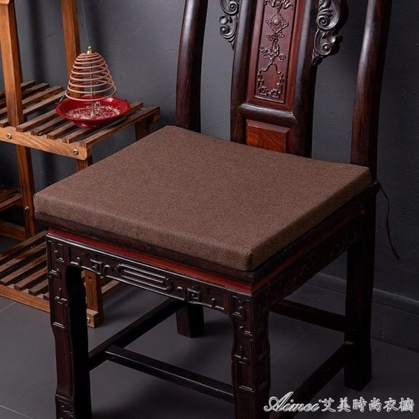 餐椅坐墊中式紅木餐椅坐墊太師椅官帽椅圈椅實木古典家具沙發墊防滑可 快速出貨YJT