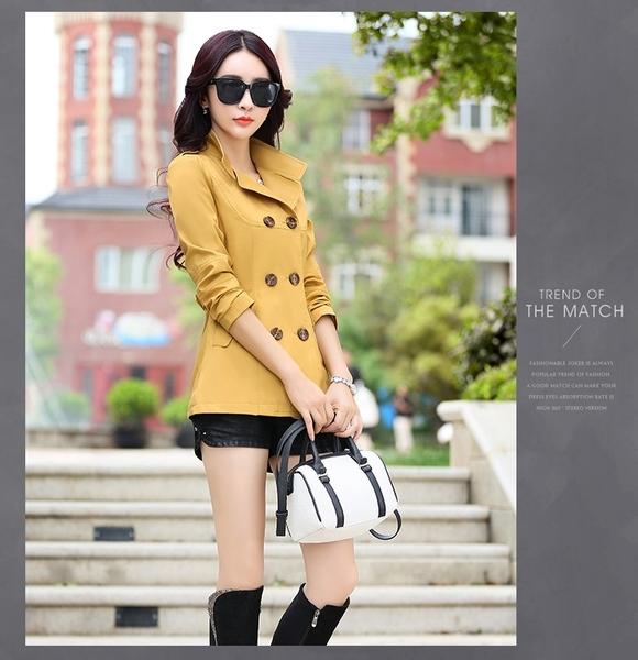 【藍色巴黎】 韓國亮麗時尚排釦短版西裝外套 《3色》【28939】