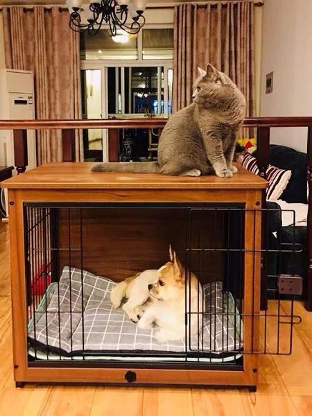 狗籠 中型犬寵物狗籠子小型犬泰迪狗圍欄柵欄室內狗窩帶廁所【八折搶購】