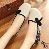 布鞋復古盤扣漢服舞蹈鞋繡花鞋旗袍民族風女鞋 週年慶降價