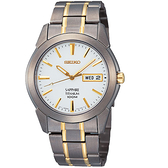 SEIKO 【鈦】經典時尚腕錶-白x雙色版/38mm 7N43-0AS0KS(SGG733P1)