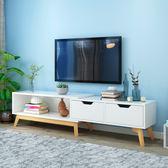 電視櫃現代簡約茶幾電視櫃組合客廳家具套裝歐式電視機櫃xw