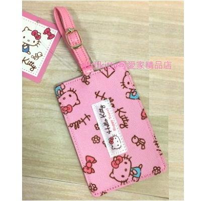 KITTY輕旅行系列 粉紅色姓名吊牌/行李吊牌-書包.補習袋都可用-也可放悠遊卡.健保卡-台灣