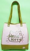 【震撼精品百貨】Hello Kitty 凱蒂貓~帆布袋手提包肩背袋『粉紅咖啡大臉』