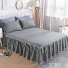 全棉床裙式單件床罩1.8m純棉蕾絲花邊雙人床席夢思床墊保護套定做 3C優購