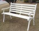【南洋風休閒傢俱】公園桌椅系列 - 4.3尺鋁條公園椅 鋁合金公園椅 騎樓等待椅 戶外公園椅(A38A01)