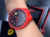 星晴錶業-FERRARI法拉利男錶,編號FE00016,44mm紅色錶殼,深黑色錶帶款