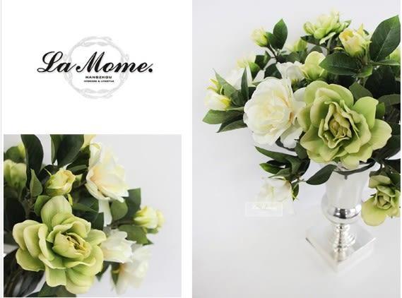 [協貿國際]白色梔子花/中式風格/高雅法式歐式/仿真花絹花外貿款/樣板房