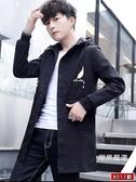 外套 新品外套男春秋季正韓修身薄款夾克男士風衣服中長款帥氣流
