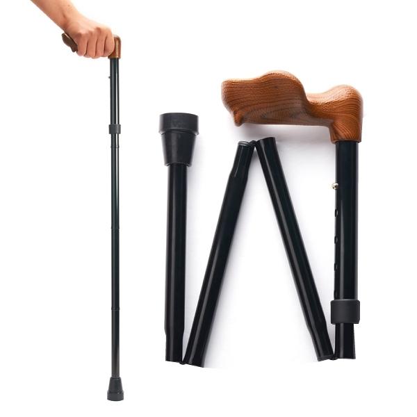 Merry Sticks 悅杖 人體工學折疊手杖-紳士黑 (右手用) (單支)【杏一】
