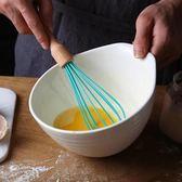 攪拌器創意櫸木柄硅膠手持打發器 家用手動烘焙奶油雞蛋打蛋器
