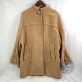 BRAND楓月 Chloe 駝色風衣外套 #34 單排釦 100%羊毛 大衣 寬版 落肩 少女 萬用百搭