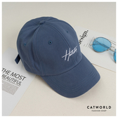 Catworld 時尚英文字刺繡棒球帽【18003562】‧F