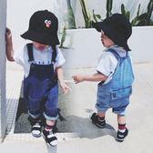 【雙11】童裝寶寶牛仔褲夏裝新款男童背帶褲女童嬰兒正韓短褲潮免300
