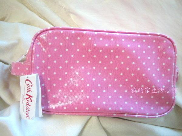 *禎的家* 英國名牌 Cath Kidston ~粉紅點點手拿化妝包